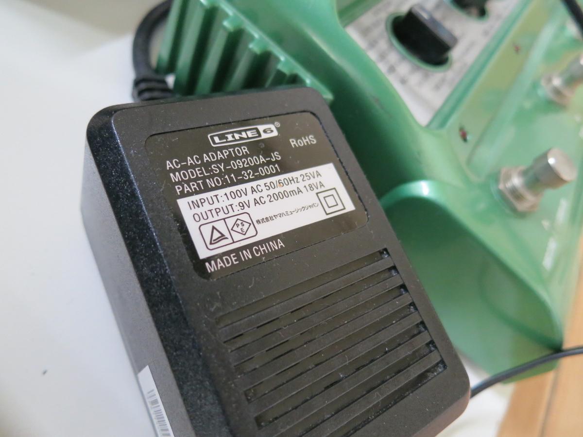 LINE6のDL4のアダプターの画像です。