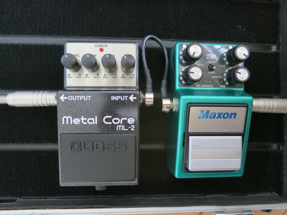 MAXON ST9Pro+(Super Tube)+BOSS ML2の画像です。