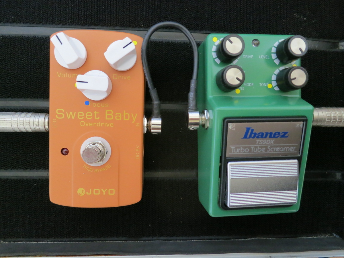 Ibanez TS9DX + JOYO Sweet Baby Over Driveの画像です。