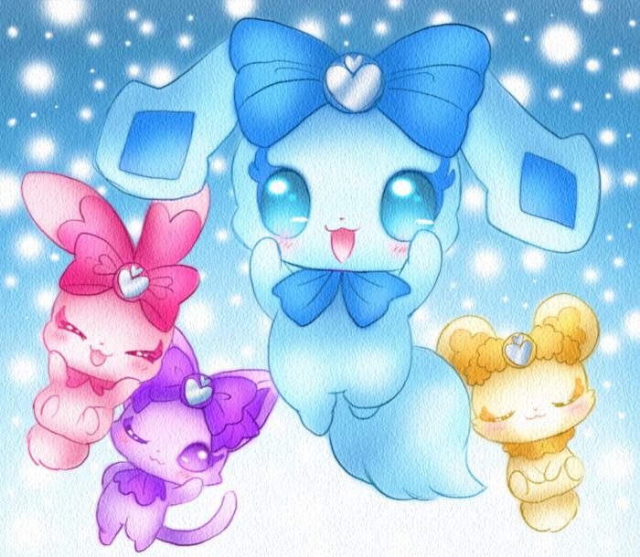 ドキドキ!プリキュアの妖精、シャルルとラケルとランスとダビィ