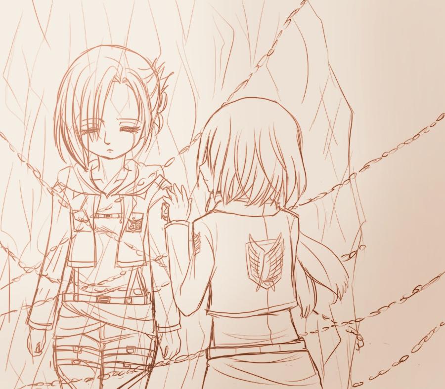 進撃の巨人、ミカサとアニ