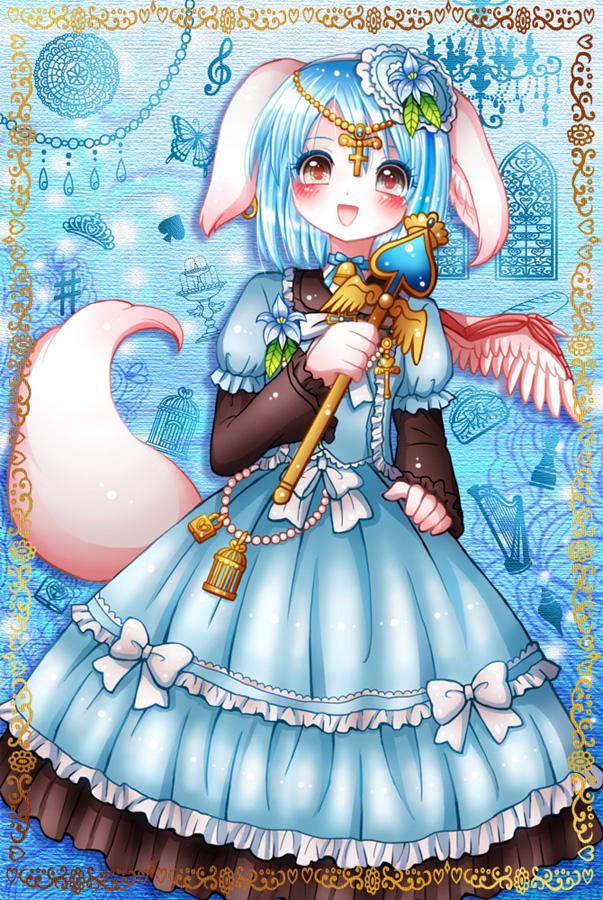 メルヘンテール十二仔のロリィタファッション犬耳少女