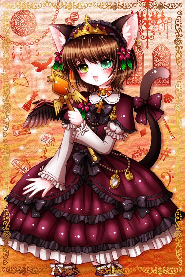 メルヘンテール十二仔のロリィタファッション猫耳少女