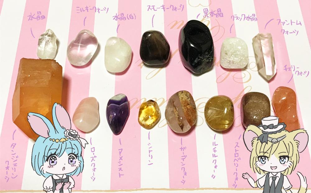 メルヘンテール十二仔の宝石天然石パワーストーンの種類