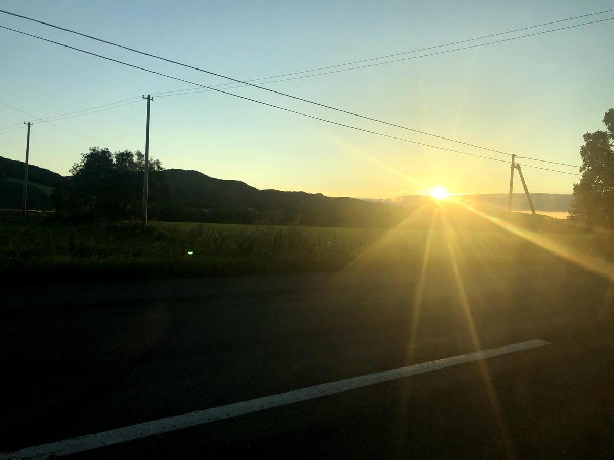 北海道夕日