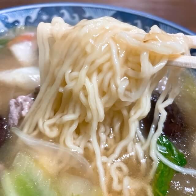 長崎永楽苑のしいたけ肉そば麺