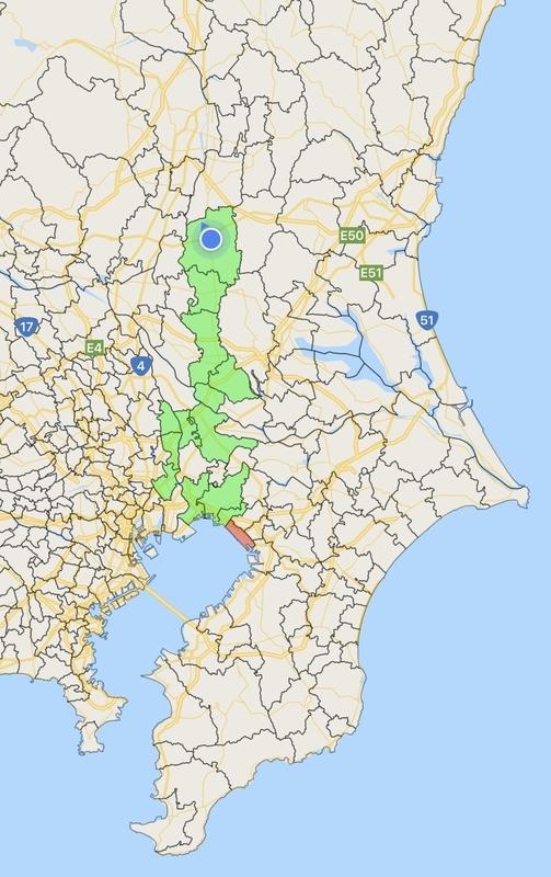 東北一周地図1日目