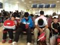 カタール空港でラケット一時没収される。。。