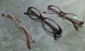 現在使用中のメガネたち