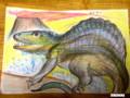 学童で働いていた時に恐竜好きな男の子(1年生)描いてあげた絵