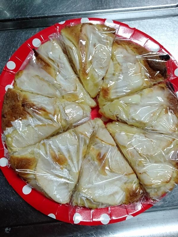 林檎ケーキをお友達に焼きました。