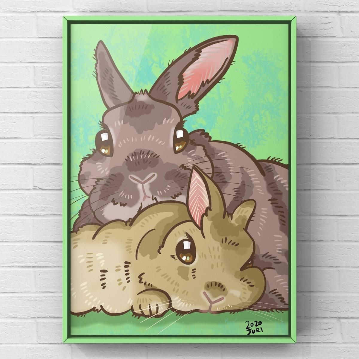 ウサギの似顔絵