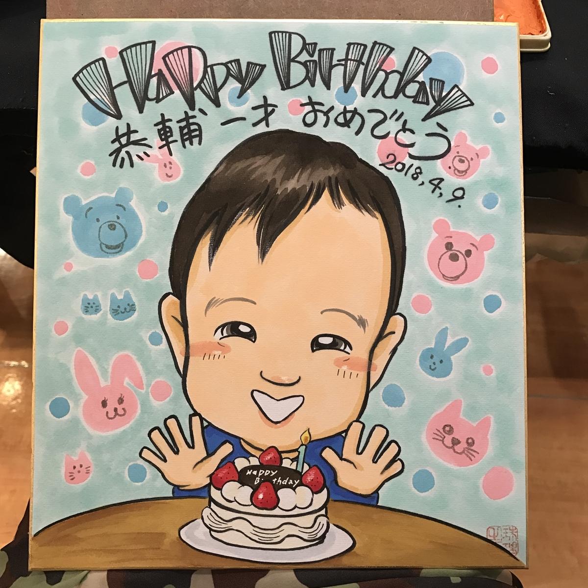 誕生日祝いの似顔絵ギフト