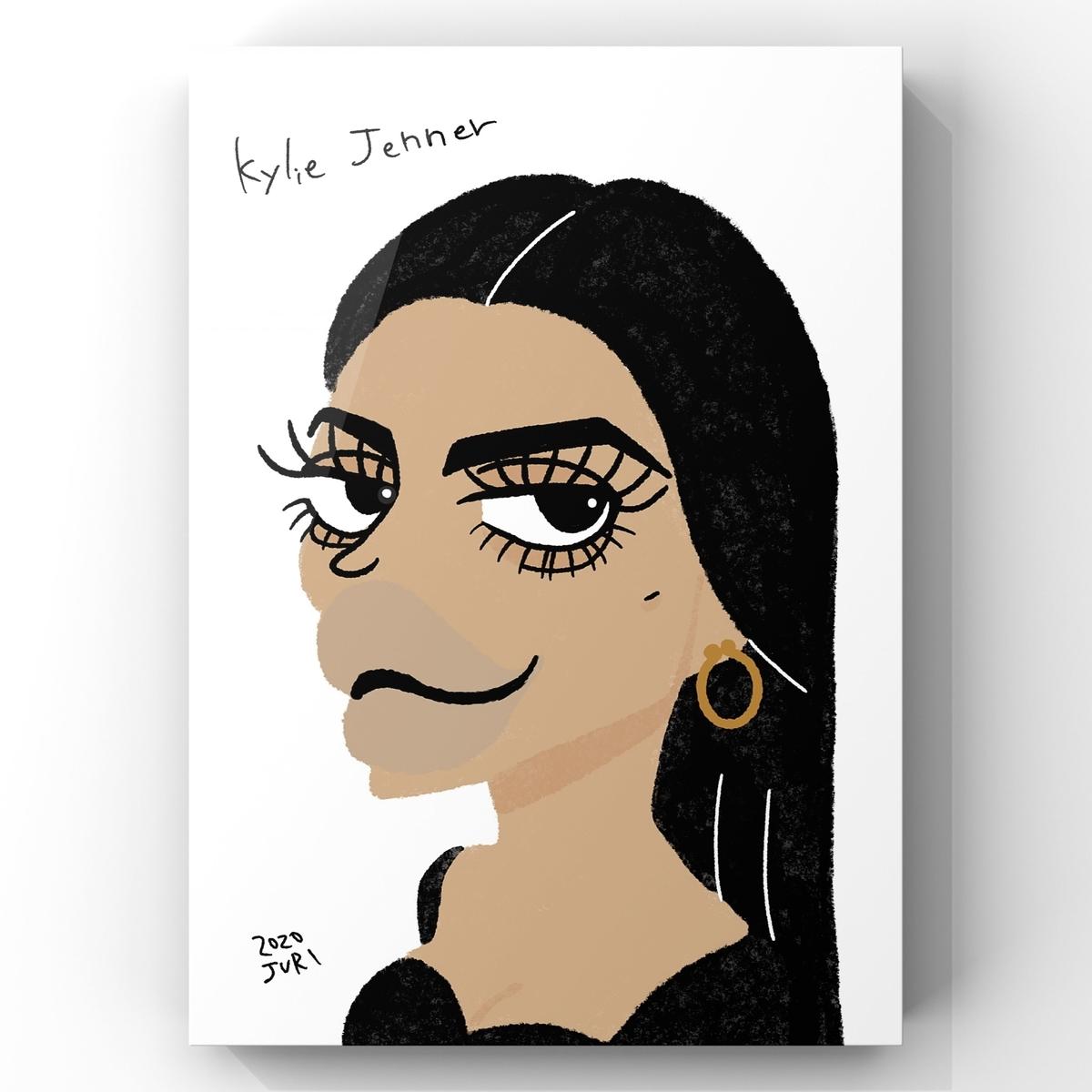 カイリージェンナーの似顔絵
