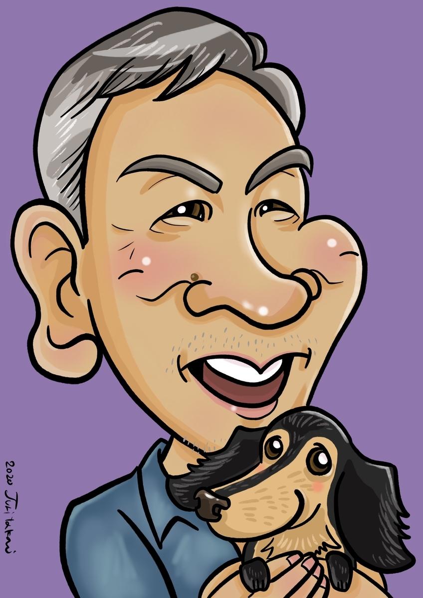 古希のお祝いのデジタル作画の似顔絵ギフト