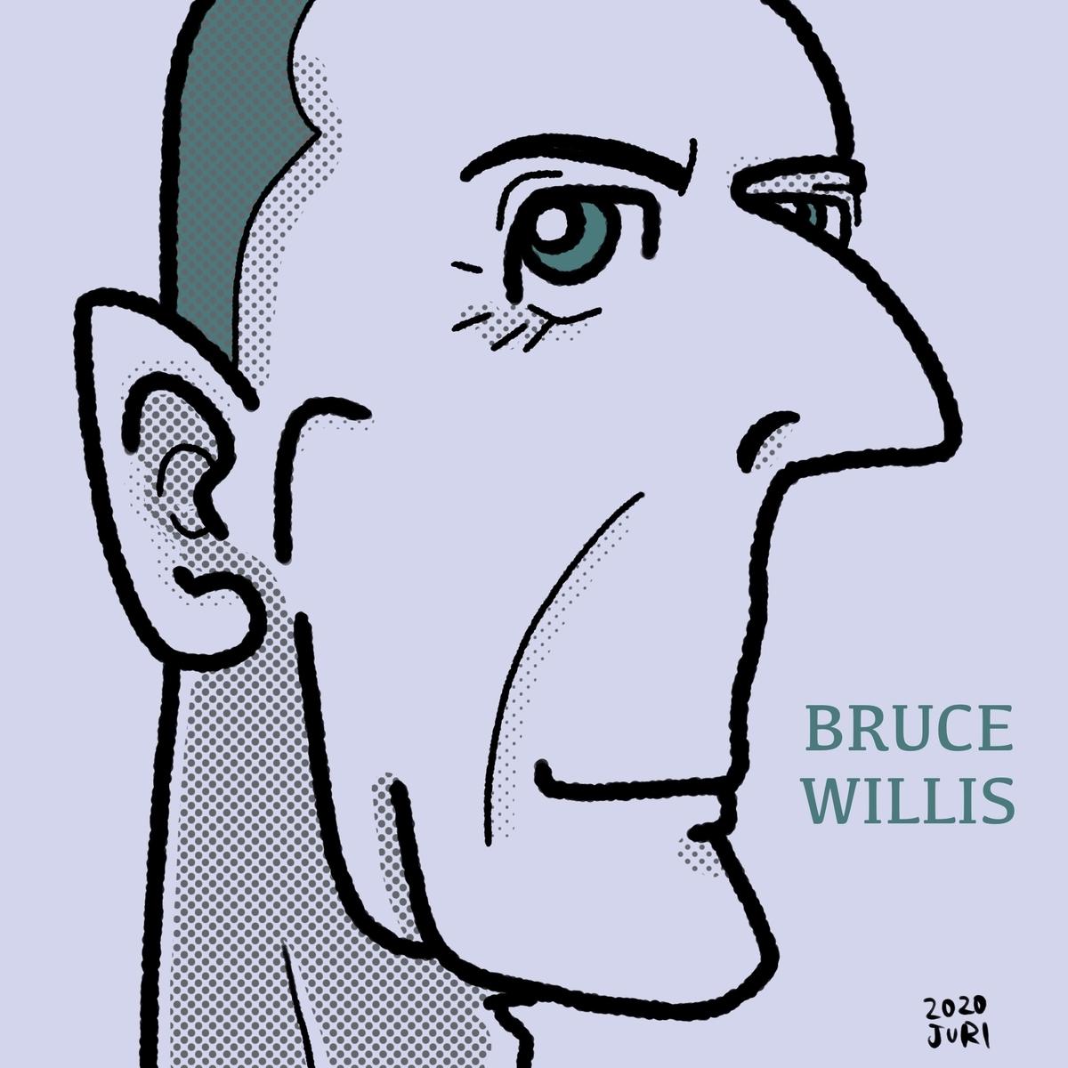 ブルースウィルスの似顔絵