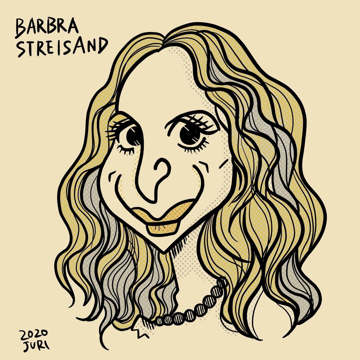 Barbrastreisandの似顔絵
