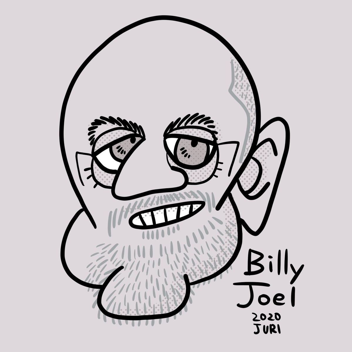 ビリージョエルの似顔絵