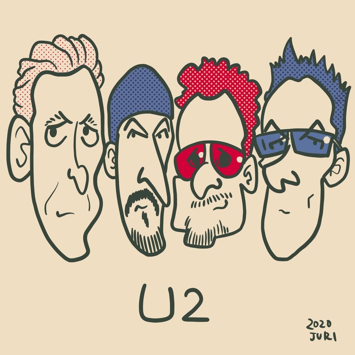U2の似顔絵