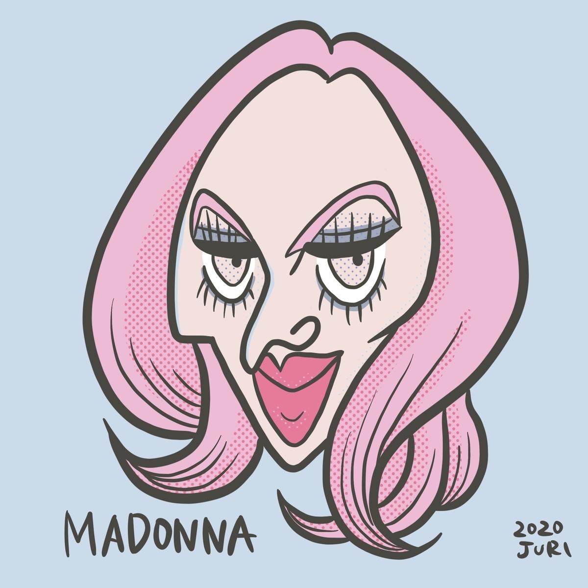 マドンナの似顔絵