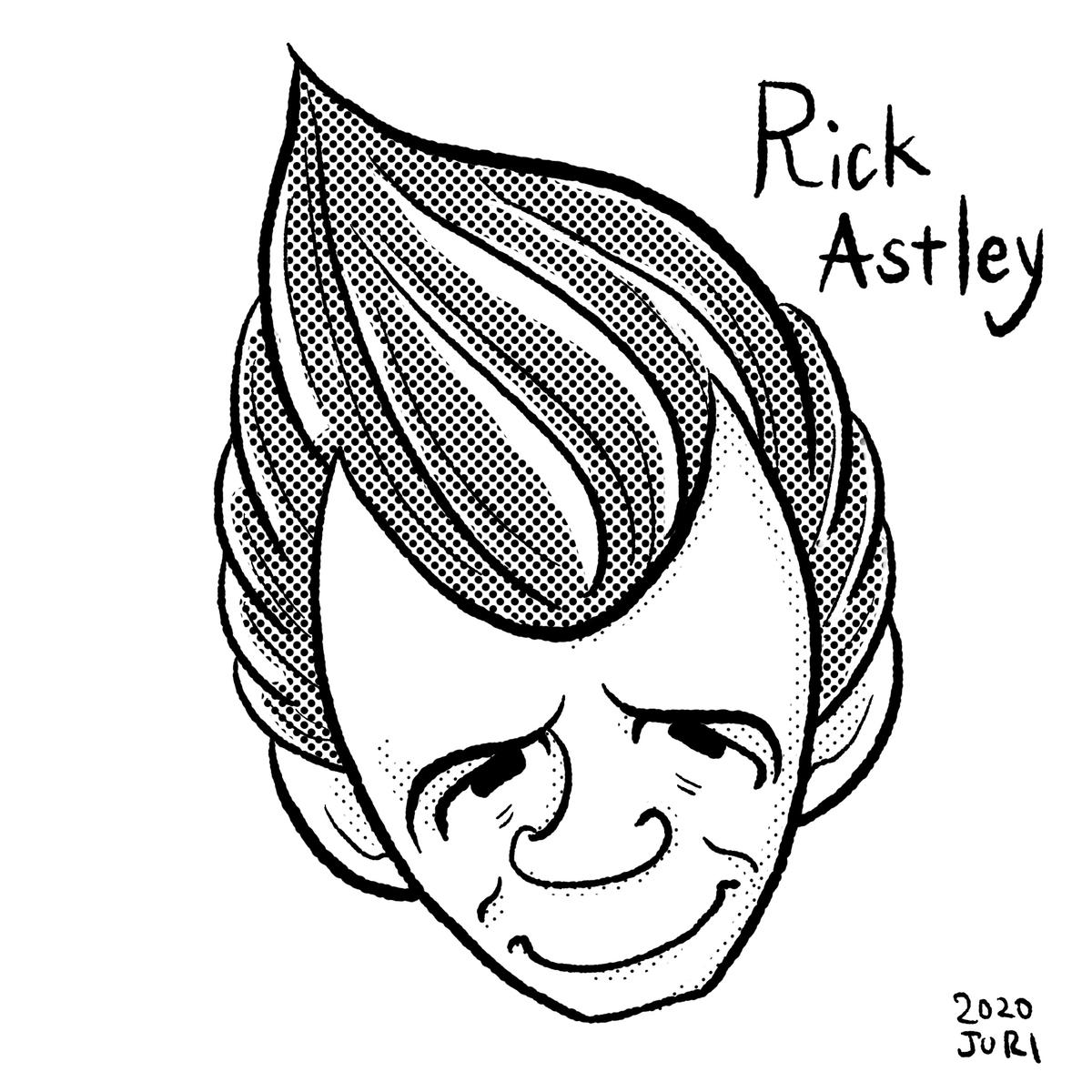 Rickastleyの似顔絵