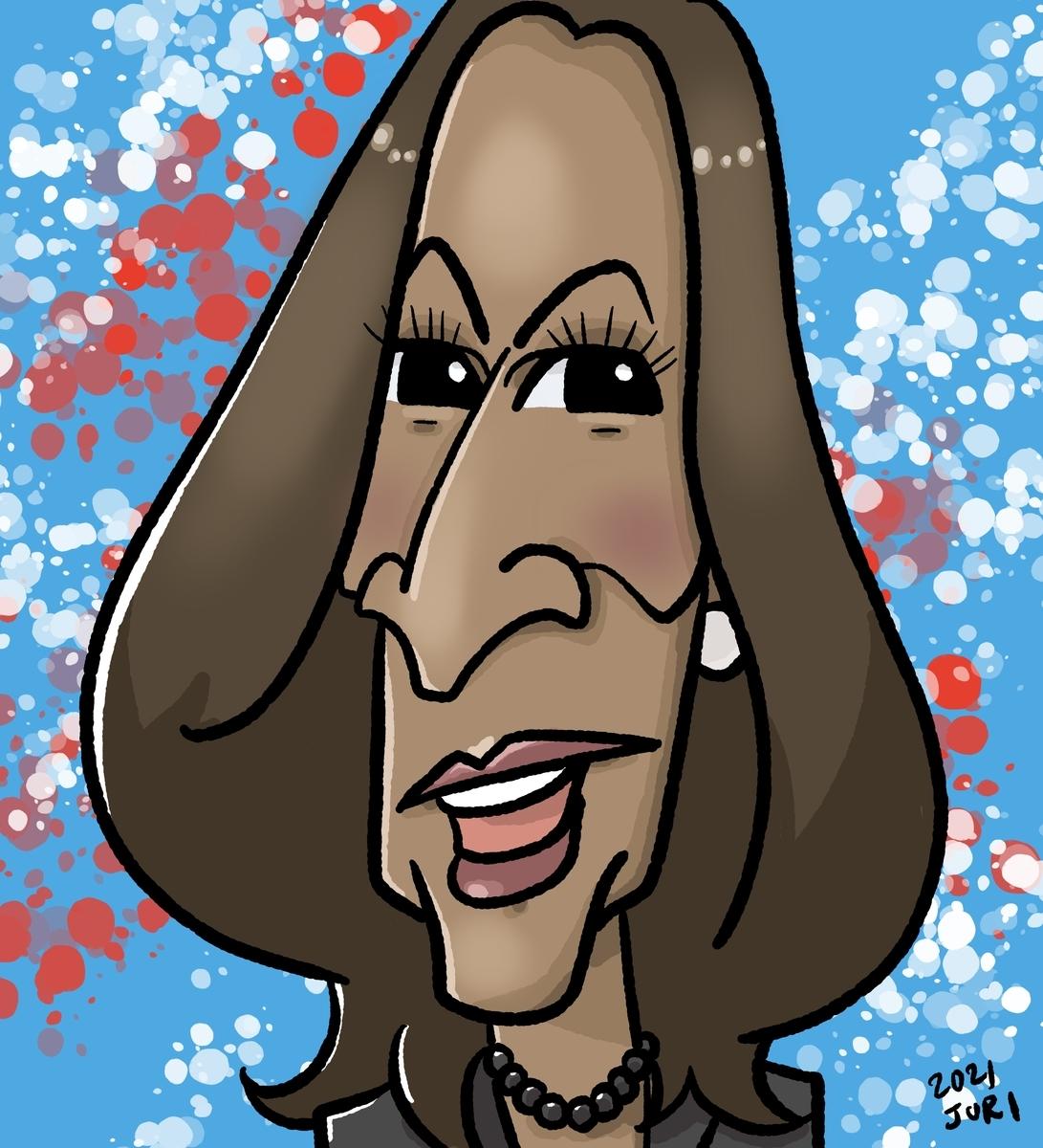 ハリス副大統領の似顔絵