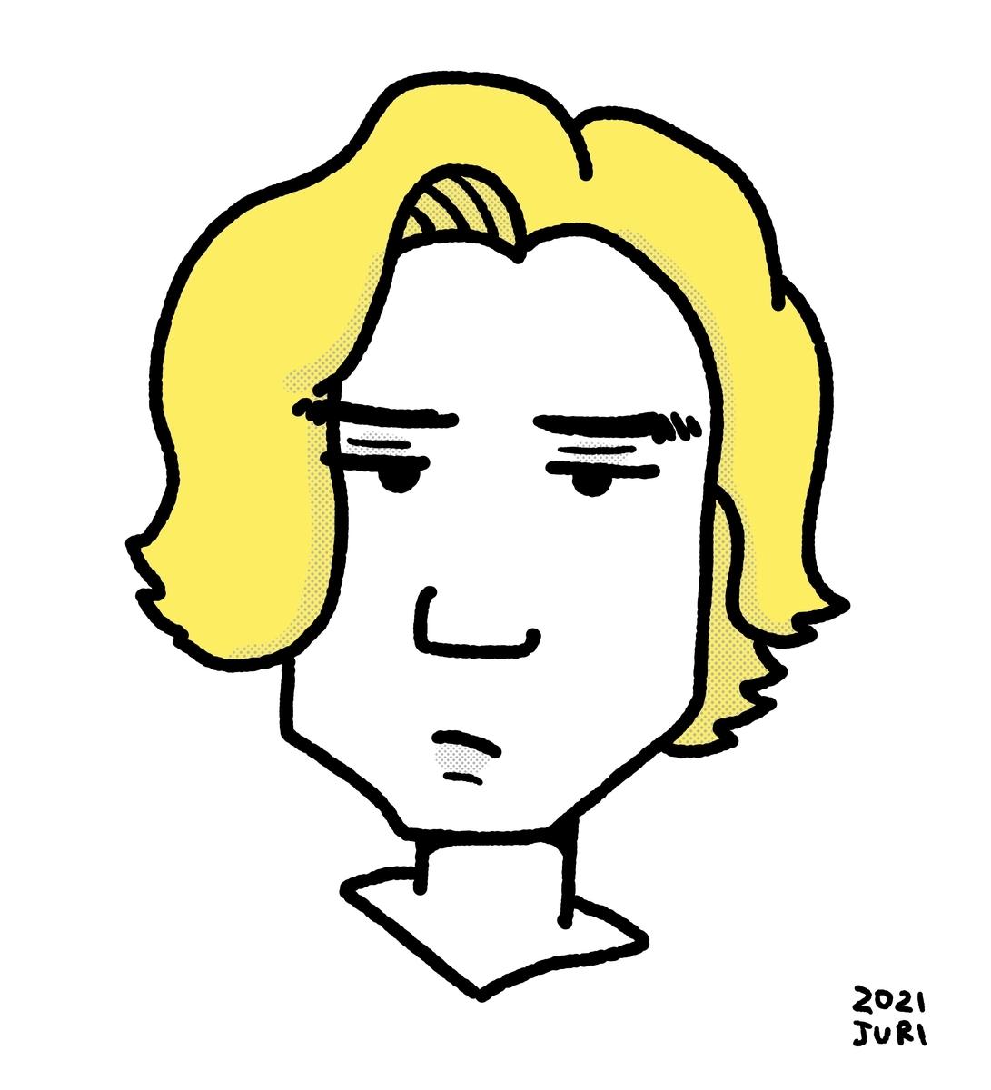 藤井風の似顔絵 北海道札幌の似顔絵作家高井じゅり 似顔絵ファクトリー