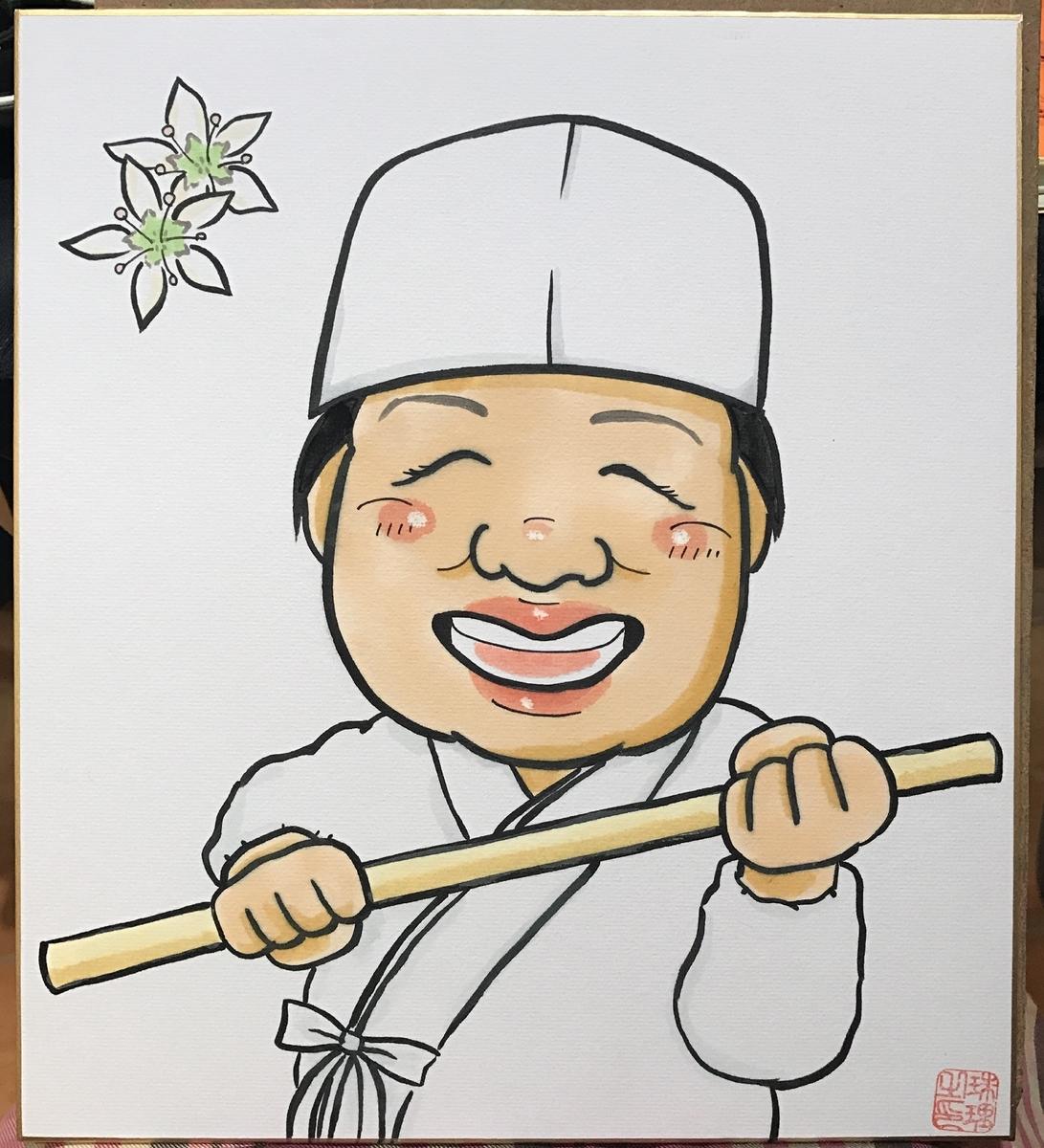 名刺用似顔絵 北海道札幌の似顔絵作家高井じゅり 似顔絵ファクトリー