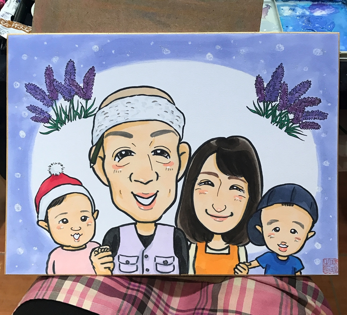 新築祝いの似顔絵 北海道札幌の似顔絵作家高井じゅり 似顔絵ファクトリー