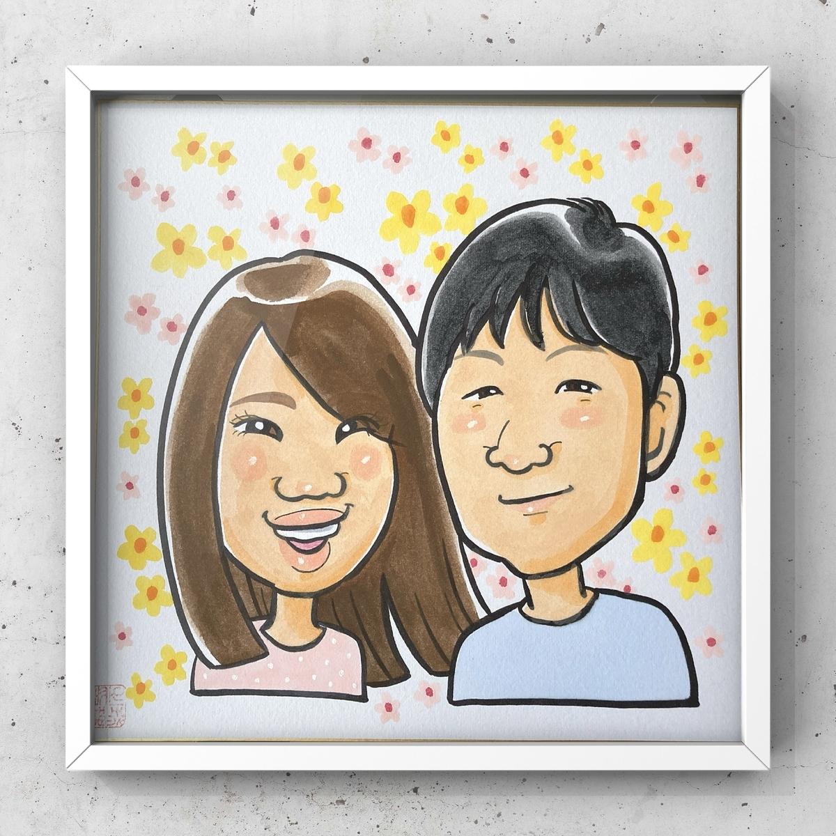 似顔絵、札幌、北海道、高井じゅり、似顔絵ファクトリー