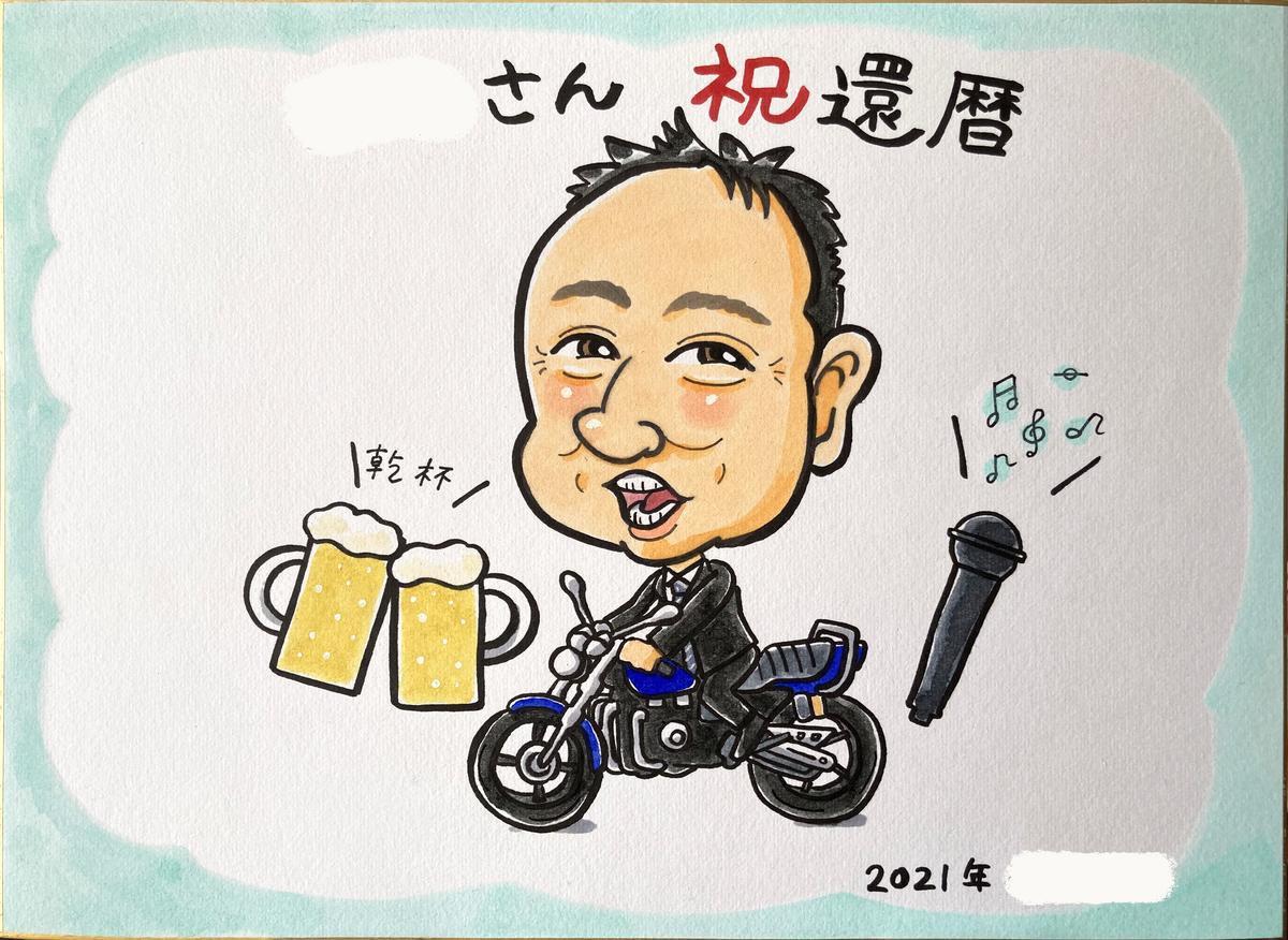 寄せ書きの似顔絵、北海道札幌のオンライン似顔絵ストア「似顔絵ファクトリー」