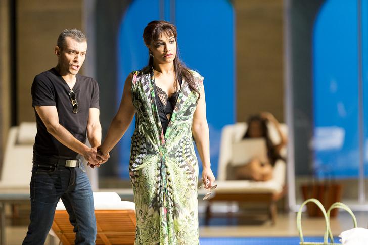 Danielle de Niese (Poppea), Filippo Mineccia (Ottone) © Werner Kmetitsch