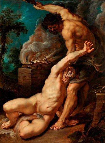 Kain ermordet seinen Bruder (1609), Rubens
