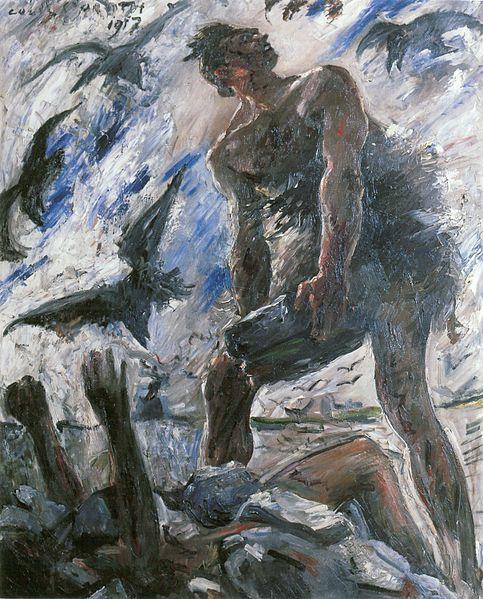 『カインとアベル』(1917)、ロヴィス・コリント(Lovis Corinth, 1858-1925)
