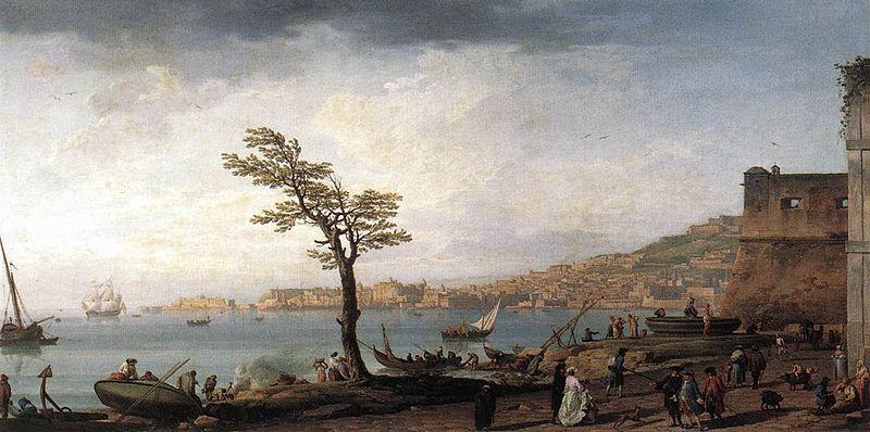 『ナポリの海岸』(Vue du golfe de Naples)(1748)、Claude Joseph Vernet