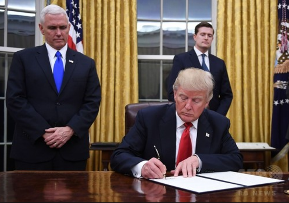 トランプ大統領ボールペン