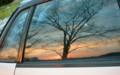 車窓に「初日の出」