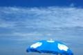 青いパラソル