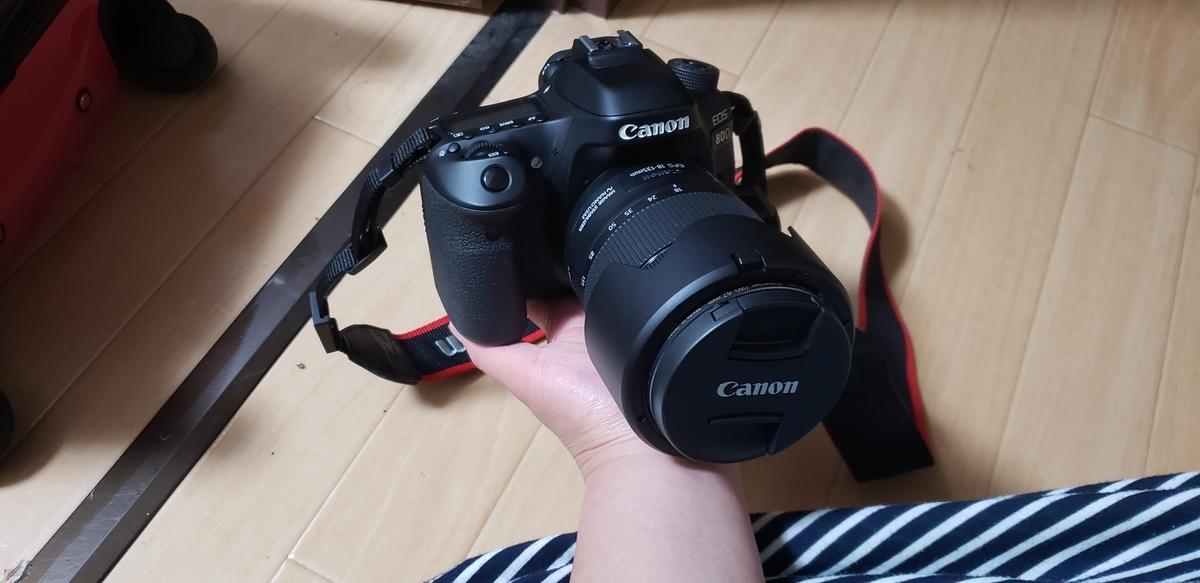 一眼レフカメラCANONのEOS80D