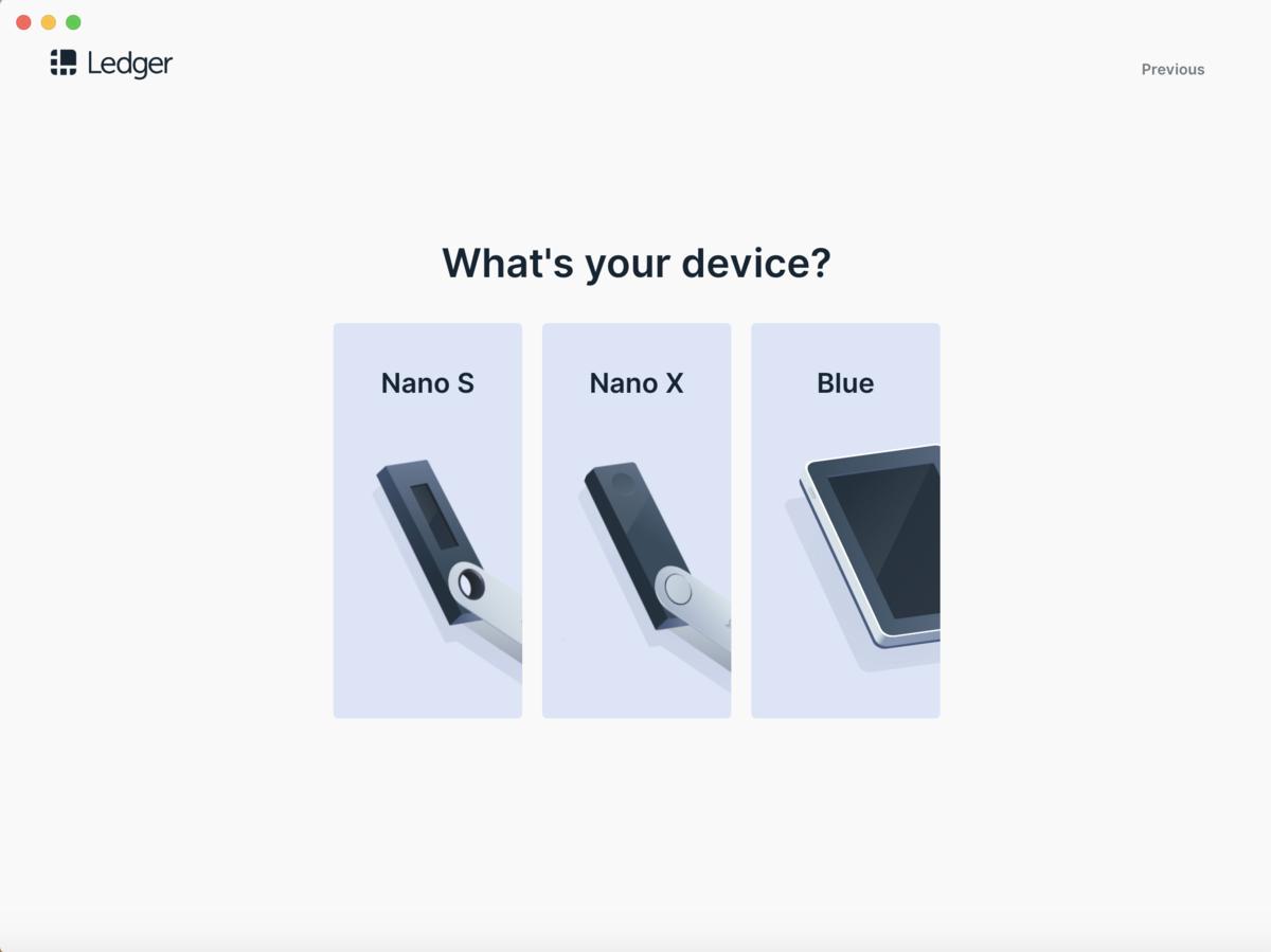 Ledger nano 操作画面