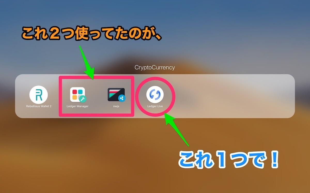 Ledger Manager と通貨アプリが、Ledger Live 1つで管理できる!