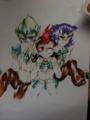 [12月〜3月絵まとめ]描き途中のゆま♀とカイトとシャーク