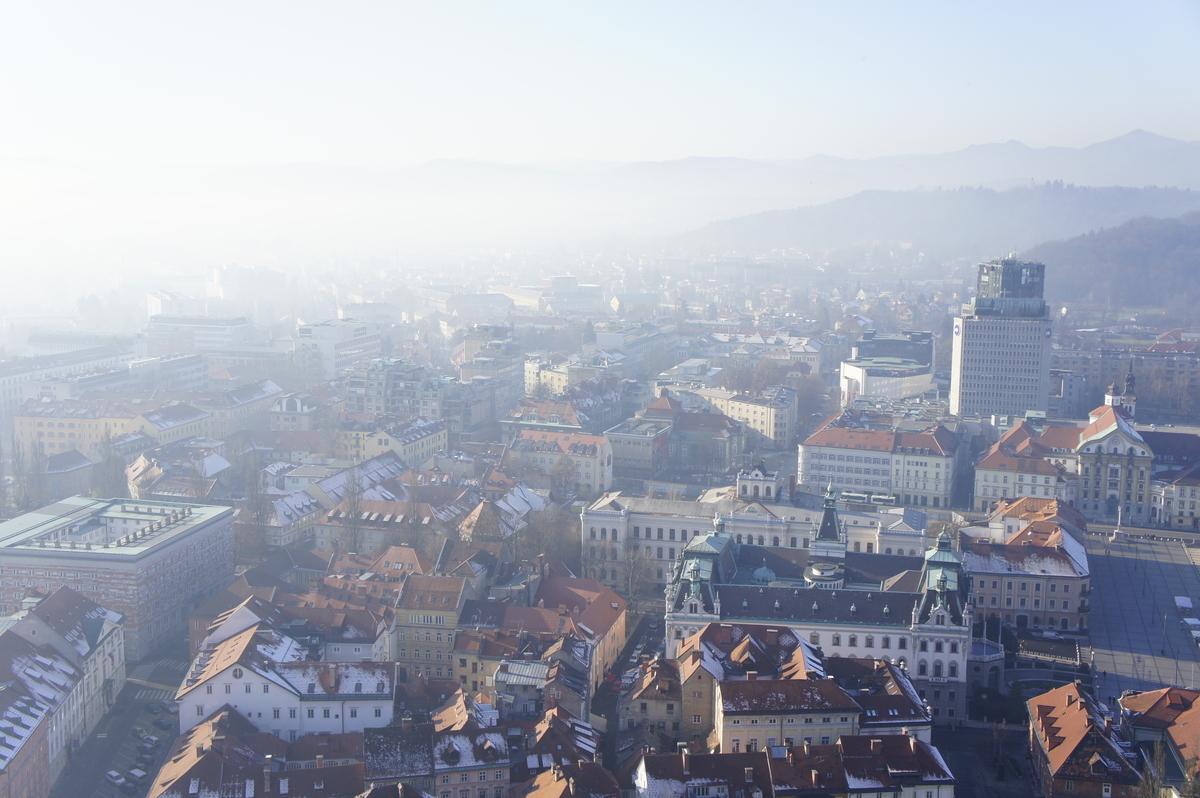 リュブリャナ城からの景色