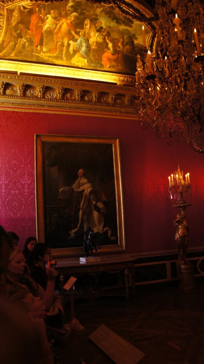ルイ16世肖像画 ヴェルサイユ宮殿 アポロンの間