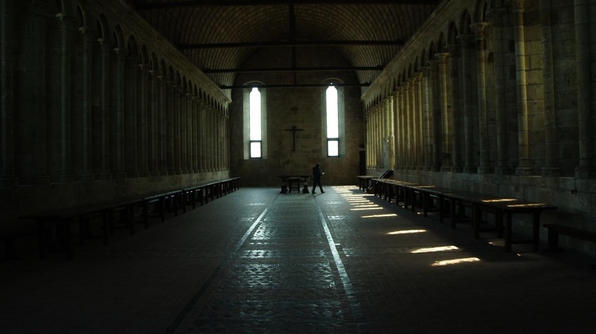 モンサンミッシェル修道院食堂