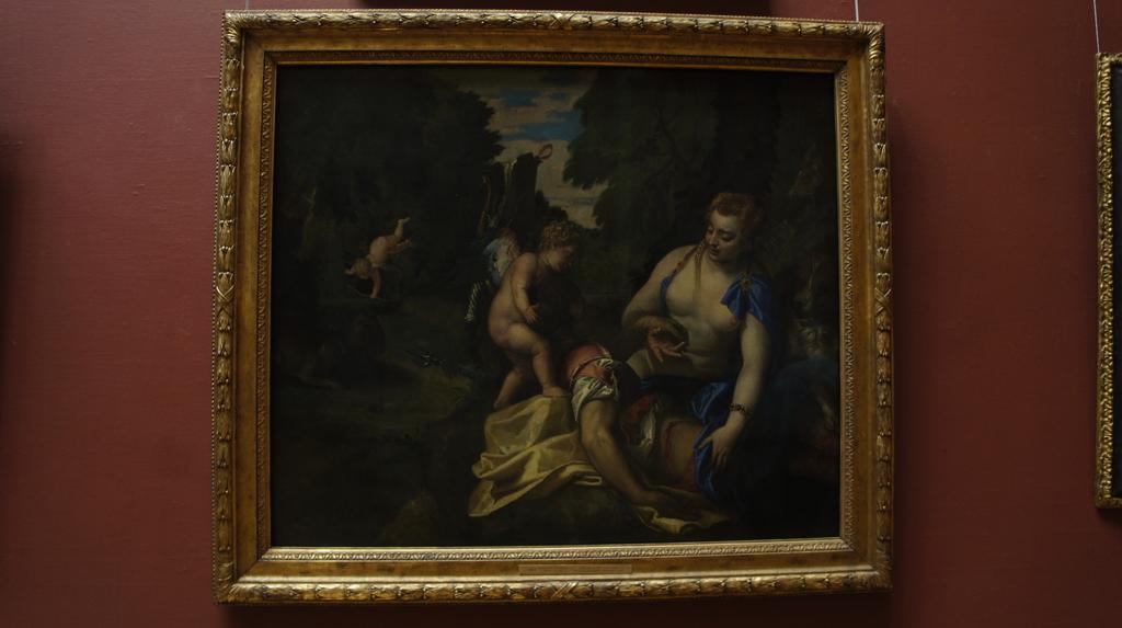 ヴィーナスとアドニス ストックホルム国立美術館
