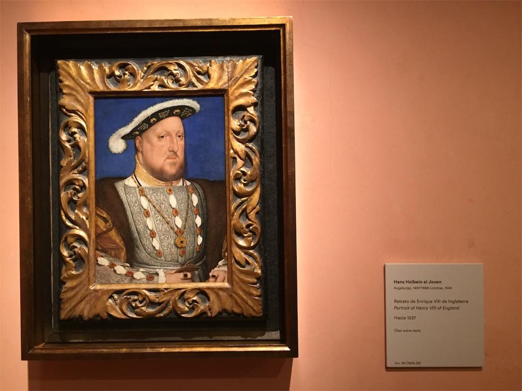 ヘンリー8世肖像画 ティッセン・ボルネミッサ