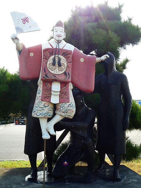 淡路人形浄瑠璃の像
