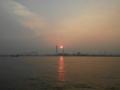 阿河浜埠頭からの夕陽