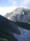 杓子岳に向い、旭岳を振り返る